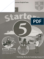 Starters 5 Answer Book