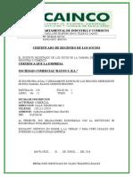 Certificado de Registro Cainco