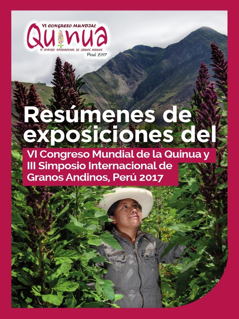Resúmenes de Exposiciones Del VI Congreso Mundial de La Quinua y III ...