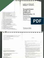 O´Donnell, Guillermo, Schmiter Philippe y Whitehead, Laurence (Compiladores). Transiciones desde un gobierno autoritario 4.pdf