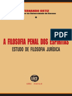 Fernando Ortiz - A Filosofia Penal Dos Espítas - Estudo de Filosofia Jurídica