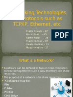 Networking Technologies and Protocols