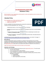 Model Volunteer-policy