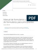 Manual de Formularios y Plantillas de Formularios Para Principiantes - Microsoft Office
