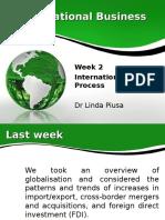 Week 2 IB Internationlisation Process