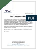 Certificado de Trabajo ARLU DVMC - ET (1)