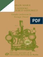 K Marx Cuaderno Tecnologico Historico