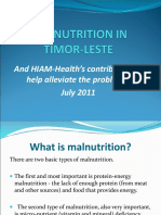 HIAM - Malnutrition in Timor-Leste