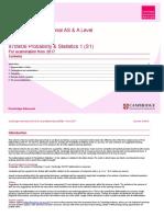 As-AL SOW 9709 06 ProbabilityandStatistics1 S1