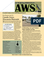 Apr 2008 CAWS Newsletter Madison Audubon Society