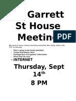 30 Garrett St House Meeting