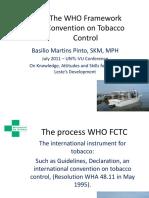 Basilio Martins Pinto - 2011 Presentation on Tobacco Control using the WHO Framework Convention