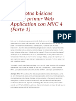 Conceptos Básicos MVC y Primer Web Application Con MVC 4