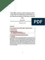 Descriptive and Prescriptive Language In