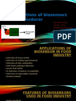 Applications of Biosensors and Transducer