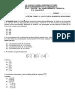 Primer Parcial Matematicas i Grupo b