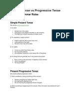 Present Tense vs Progressive Tense