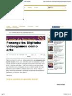 Texto - Games, Parangoles e Arte