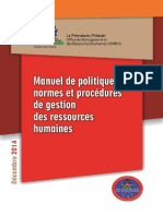 Manuel Procedures de Gestions Des RH