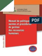 Manuel Procedures de Gestions Des RH