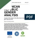 Dominican Republic Gender Analysis
