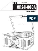Crosley CR24-003A Manual