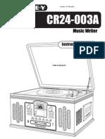 Crosley CR24-003A Manual