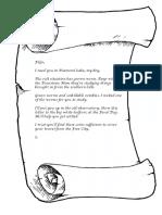 Letter to Filge