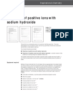 52 Reactions Positive Ions