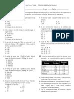 Examen de Matematicas 6º_3er Perido