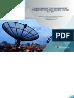 Plan de Telecomunicaciones y TI.
