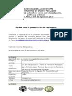 Formulario Resumen XII JNSyP