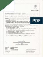 INTI EN12811 Certificado Andamio Gris