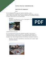 Diferentes Tipos de Contaminación