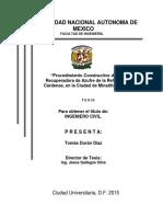 TESIS- Procedimiento Constructivo de La Planta Recuperadora de Azufre de La Refineria Lazaro Cardenas en La Ciudad de Minatitlan Veracruz