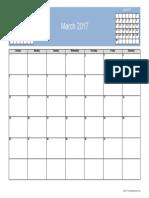 March2017 Calendar