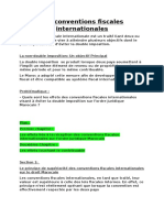 Les Conventions Fiscales Internationales