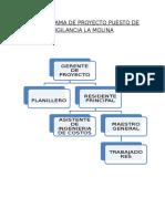 Organigrama de Proyecto Puesto de Vigilancia La Molina