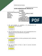 Evaluación Formativa Mod. Vi