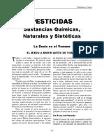 PESTICIDAS  Sustancias Químicas,  Naturales y Sintéticas - Eduardo Ferreyra