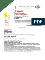 Programma Orizzonti Festival 2010 - Chiusi (SI)