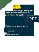 Todo Para Tu Motorola U6