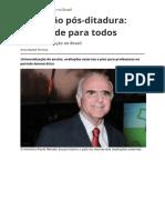 Educacao Pos Ditadura Qualidade Para Todos