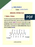 Aminoacidos & Proteinas (Parte B- Estruct. 1ria. 2ria, 3ria...Sintesis Prot.)