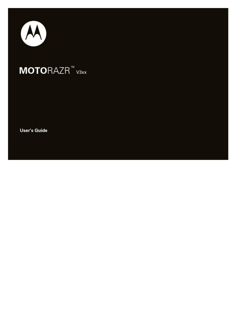 Motorazr V3xx User Manual