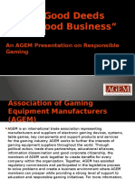 AGEM Responsible Gaming Presentation