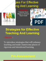strategies for effective teaching and learning