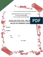 Evaluacion Del Paciente - Modelo 1