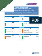 Calendario 2017 Pruebas de IB