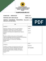 Planificación anual ORIENTACION-4°B